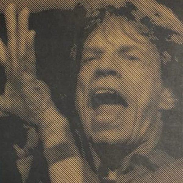 Prachtige foto van Mick Jagger in hout gefreesd